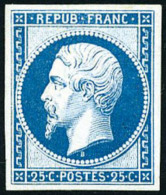 N°10c, 25 C. Bleu, Réimpression De 1862, TB - 1852 Louis-Napoleon