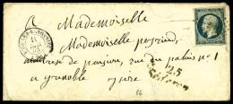 N°10, 25 C. Bleu, Oblitéré PC Sur Enveloppe Avec Càd Type 15 De Buis-Les-Baronnies Du 11 D&eacu - 1852 Louis-Napoleon