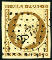 N°9d, 10 C. Bistre-brun Foncé, Oblitéré PC 2875, Superbe - 1852 Louis-Napoleon