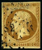 N°9, 10 C. Bistre-jaune, Oblitéré Losange DS2, TB - 1852 Louis-Napoleon