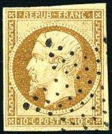 N°9, 10 C. Bistre-jaune, Oblitéré Etoile, TB - 1852 Louis-Napoleon