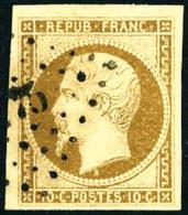 N°9, 10 C. Bistre-jaune, Oblitéré PC, Superbe - 1852 Louis-Napoleon