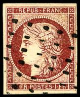 N°6d, 1 F. Carmin-cerise, Oblitéré Rouleau De Gros Points, Superbe - 1849-1850 Ceres