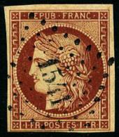 N°6B, 1 F. Carmin-brun, Oblitéré PC 1541, TB - 1849-1850 Ceres