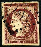 N°6, 1 F. Carmin, Oblitéré PC 441, TB - 1849-1850 Ceres