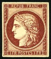 N°6, 1 F. Carmin, Superbe - 1849-1850 Ceres