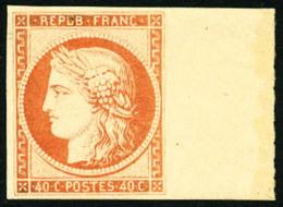 N°5g, 40 C. Orange, Réimpression De 1862, Bord De Feuille, Superbe - 1849-1850 Ceres