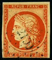 N°5, 40 C. Orange, Oblitéré PC 2199, Court En Bas Sinon TB - 1849-1850 Ceres