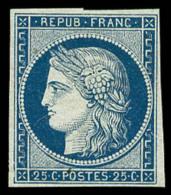 N°4, 25 C. Bleu, TB - 1849-1850 Ceres