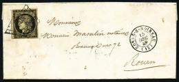N°3c, 20 C. Gris-noir, Oblitéré Grille Sur LAC Avec Càd Type 15 De CONDE-S-NOIREAU Du 15 D&eacu - 1849-1850 Ceres