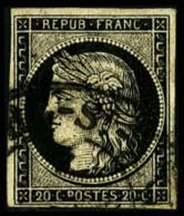 N°3, 20 C. Noir Sur Jaune, Oblitéré Càd Type 13, TB (cote Cérès) - 1849-1850 Ceres