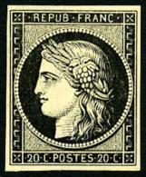 N°3, 20 C. Noir Sur Jaune, TB - 1849-1850 Ceres