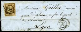 N°1a, 10 C. Bistre-brun, Oblitéré PC Sur LSC Avec Càd Type 15 De Lyon Du 3 Septembre 1855, TB ( - 1849-1850 Ceres