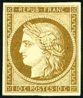N°1, 10 C. Bistre-jaune, Superbe (cote Sans Gomme) - 1849-1850 Ceres
