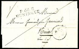 P.66.P/HUNINGE Sur LSC Datée Du 29 Mars 1831, TB (indice : 18) - Postmark Collection (Covers)