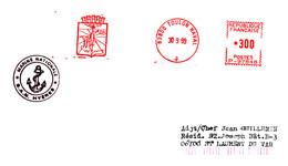 1999 - Hyères - Base Aéronautique Navale + EMA Toulon Naval - FRANCODE PORT - Storia Postale