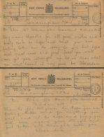 QUEEN ALEXANDRA SANDRINGHAM NORFOLK TELEGRAM CONTINENTAL RAILWAY JOURNEYS 1919 - Historical Documents