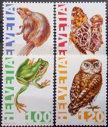 Switzerland, 1995, Owl, Frog, Butterfly, MNH