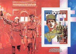 MADAGASCAR / CENTENAIRE NAISSANCE GENERAL DE GAULLE  2 Blocs Dentelés Neufs MNH Ventes 6.00 Euros