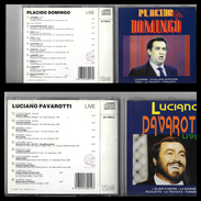 """2 CD Compact Disc :  """" PLACIDO DOMINGO """" E  """" LUCIANO PAVAROTTI """" - Opere"""