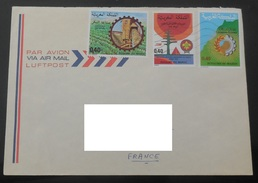 MAROC YT 805 815 818 / Festivités Scouts Panarabes Rabat - Industrie Sucrière - Promotion Du Sahara / Enveloppe Voyagée - Maroc (1956-...)