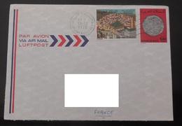 MAROC  1978 YT 807 & 817 / Moussem Moulay Idriss Zarhoun - Anciennes Monnaies Marocaines / Enveloppe Voyagée Vers France