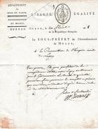 Floréal An 8 - MEAUX (77) - HOSPICE CIVIL De LAGNY (77) - Correspondance établie - Documents Historiques