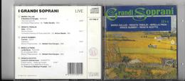 """CD Compact Disc """" I GRANDI SOPRANI Live """" Callas, Tebaldi, Freni, Scotto ,... - Opere"""