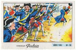 Image Chocolat Poulain Série N° 100 : Fanfan La Tulipe => Image N° 18 - Militaria Bataille Grenadiers - Poulain
