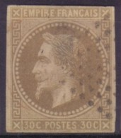 YT9 Napoleon 30c - Losange 9x9 Pondichery - Napoléon III.