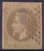 YT9 Napoleon 30c - Losange 9x9 Pondichery