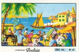 Image Chocolat Poulain Série N° 106 : Les Marchés De Provence => Image N° 47 - Musique Chanson Gilbert BECAUD Calanques - Poulain