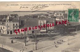 44 - SAINT NAZAIRE- VUE PANORAMIQUE PRISE DE LA PLACE DU BASSIN - AU FOND LA POINTE DE VILLE ES MARTIN -1910- PENEAU VIN - Saint Nazaire