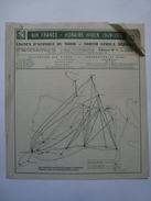 AIR FRANCE. LIGNES D'AFRIQUE DU NORD. HORAIRE HIVER 1949-1950. ÉDITION Nº 2 - FRANCE 1949. 6 PAGES. - Timetables
