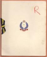 Carte De Voeux Destinée Au Colonel Et Officiers Du 6ème Régiment De Dragons - Fiestas & Eventos