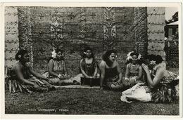 Real Photo Kava Ceremony Tonga  Women In Nativre Dress No 11 - Tonga