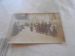 670 - Carte-Photo, JERUSALEM,  Mur Des Lamentations, Juifs Priant