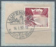 """Werbedatumstempel K24a  """"Laufenburg""""           1952"""