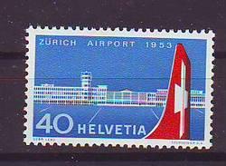 Switzerland 1953 Y Aviation Airport Zurich-Kloten Mi No 585 Unused