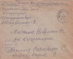Prisoner Of War From Russian POW In Germany, Kriegsgefangenenlager Wälzburg To Denmark P/m Wiesenburg 2.3.1917 - Censore - Militaria