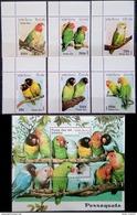 Laos, 1997, Birds, Parrots, MNH