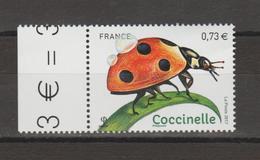 """FRANCE / 2017 / Y&T N° ???? ** : """"Insectes"""" (Coccinelle) De Feuille (avec Bord) - Gomme D'origine Intacte - Nuovi"""