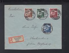 Dt. Reich R-Brief 1935 Wilhelmshaven Nach Saarbrücken - Briefe U. Dokumente