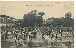 Port Louis La Place D' Armes Le 18 Juin 1909 Arrivée Des Commissaires Royaux Edit Vidal - Maurice