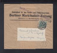 Dt. Reich Streifband 1916 Berliner Markthallen Zeitung - Deutschland