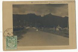 Hippodrome Port Louis Carte Photo Timbrée De Curepipe 1931 Format 12 Par 8,5 - Maurice