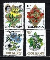 Aitutaki 73-76 NH 1973 Overprint Set