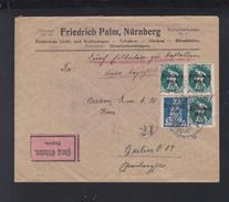 Dt. Reich Expresbrief 1921 Nürnberg Nach Berlin - Germania