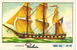 Image Chocolat Poulain Série N° 160 : Sur Les Bords De La Loire => Image N° 69 - Bateau Voiliers Frégate - Poulain