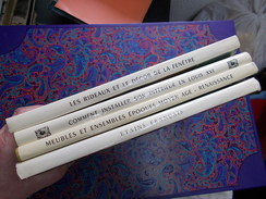 LOT LIVRES DECORATION INTERIEURE MEUBLES MOYEN AGE RENAISSANCE LOUIS XVI ETAINS RIDEAUX Chez CHARLES MASSIN Poinçons - Home Decoration